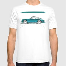 Porsche 911 / V SMALL Mens Fitted Tee White