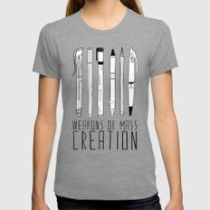 weapons of mass creation Womens Fitted Tee Tri-Grey LARGE
