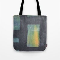 Light Behind Black Tote Bag