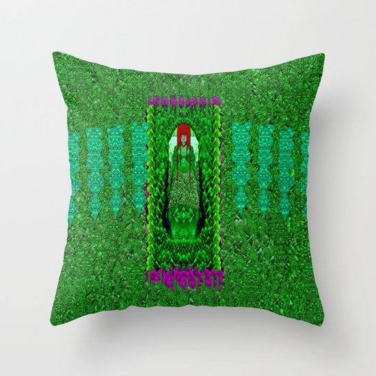 Peace Mermaid Cat Throw Pillow