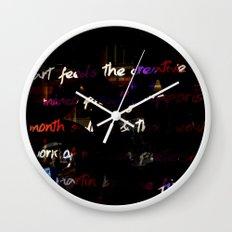 Glowing letters Wall Clock