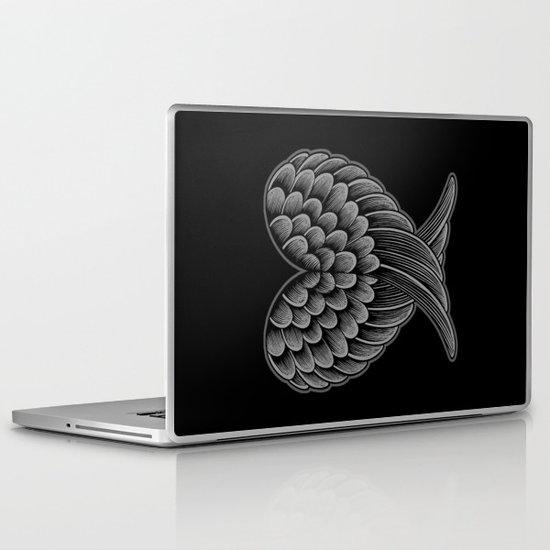 Heart Wings [Reversed Version] Laptop & iPad Skin
