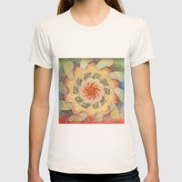 Manipura Womens Fitted Tee Natural SMALL