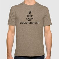 Keep Calm And Counterste… Mens Fitted Tee Tri-Coffee SMALL