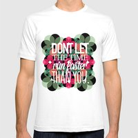 FLOWER TIME Mens Fitted Tee White SMALL