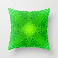 green star Throw Pillow