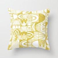Golden Doodle squares Throw Pillow
