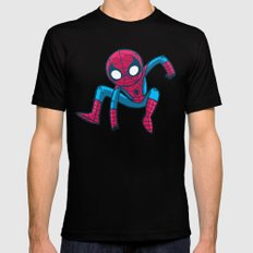 Does whatever a spider can! SMALL Mens Fitted Tee Black