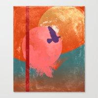 Solitary Flight Canvas Print