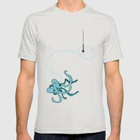 Singing Octopus Mens Fitted Tee Silver SMALL