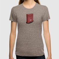 Don't Judge a Book By Its Cover Womens Fitted Tee Tri-Coffee SMALL