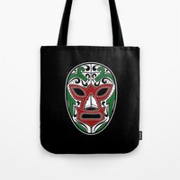 Mexican Wrestling Mask -… Tote Bag