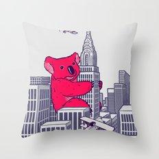 Koala Kong Throw Pillow