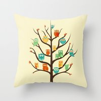 Owl Are Welcome Throw Pillow