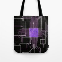 Circuit Board Purple Tote Bag