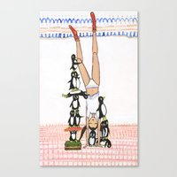 Headstand With Silly Pen… Canvas Print