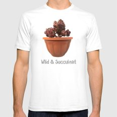Wild & Succulent Mens Fitted Tee White SMALL
