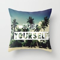 Go find yourself Throw Pillow