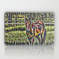Horse In Paddock Laptop & iPad Skin