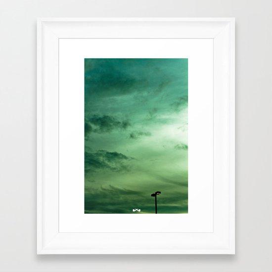 In Light of The Sunset. Framed Art Print