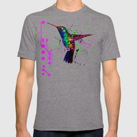 Hummingbird Program Mens Fitted Tee Tri-Grey SMALL