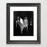 Virtual Space Travel Framed Art Print