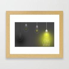 SH!NE Framed Art Print