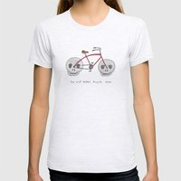 the most badass bicycle ever Womens Fitted Tee Ash Grey SMALL