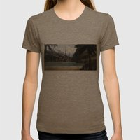 Hidden In The Mountains Womens Fitted Tee Tri-Coffee SMALL