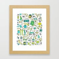 to and fro Framed Art Print