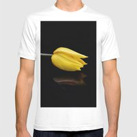 Yellow And Black Mens Fitted Tee White SMALL