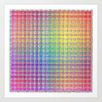 Rainbow Colours Art Print