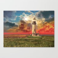 Lighthouse Landscape Canvas Print