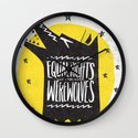 WEREWOLF RIGHTS Wall Clock