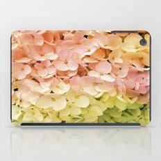 Delicate Pastel Multicolor Hydrangea iPad Case