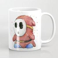 Shy Guy Watercolor Mario… Mug