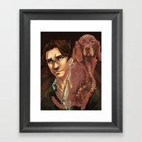Sam | Irish Setter Framed Art Print
