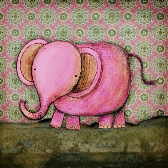 Joe the Elephant Art Print