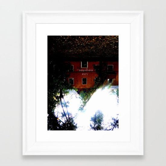 Love everywhere Framed Art Print