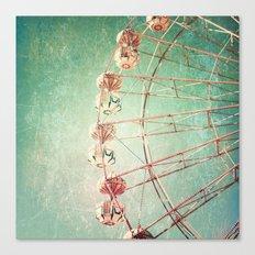 Textured Ferris Wheel Canvas Print