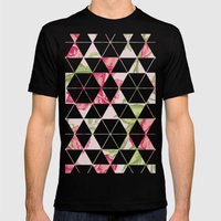 Flora Quilt Mens Fitted Tee Black SMALL