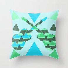 Triangles, colors and...guitars Throw Pillow