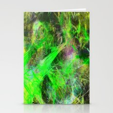 Neon Galaxy - Abstract Stationery Cards