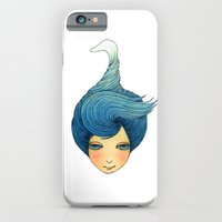 iPhone & iPod Case featuring the girl with swan hair by YK Kim