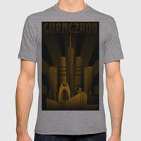 Guangzhou (China) Mens Fitted Tee Athletic Grey SMALL