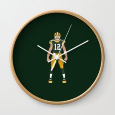 Cheese Head - Aaron Rodgers Wall Clock