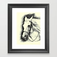 Horse-portrait Framed Art Print