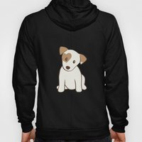 Heart Spotted Jack Russe… Hoody