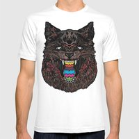 Bakeneko Mens Fitted Tee White SMALL