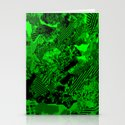 Collage in Green Stationery Cards